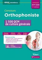 Souvent acheté avec Concours orthophoniste 2019, le Concours orthophoniste