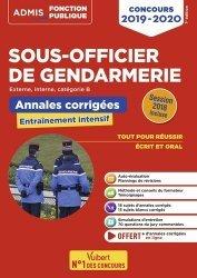 Dernières parutions dans Admis Fonction publique, Concours sous-officier de gendarmerie catégorie B. Annales et sujets inédits corrigés, Edition 2019-2020