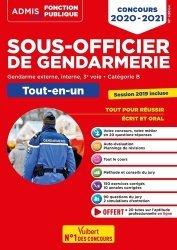 Dernières parutions dans Admis Concours de la fonction publique, Concours Sous-officier de gendarmerie. Gendarme externe, interne, 3e voie. Catégorie B. Tout-en-un, Edition 2020-2021