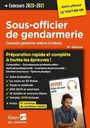 Dernières parutions dans 100% efficace, Concours Sous-officier de gendarmerie externe et interne. Edition 2020-2021