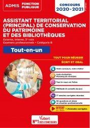 Dernières parutions sur Concours administratifs, Concours Assistant territorial et Assistant principal de conservation du patrimoine et des bibliothèques