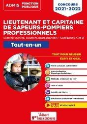 Dernières parutions sur Concours administratifs, Concours Lieutenant et Capitaine de sapeurs-pompiers professionnels