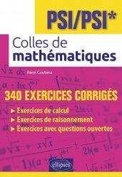Dernières parutions sur 1ère année, Colles de mathématiques - PSI/PSI*