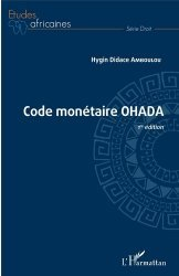 Dernières parutions dans Etudes africaines. Droit, Code monétaire OHADA