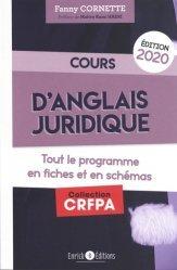 Nouvelle édition Cours d'anglais juridique 2020