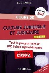 Dernières parutions sur Préparation au CRFPA, Cours de culture juridique et judiciaire. Edition 2021