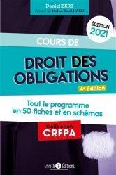 Dernières parutions sur Préparation au CRFPA, Cours de droit des obligations. Edition 2021