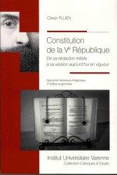 Dernières parutions sur Constitution, Constitution de la Ve République. De sa rédaction initiale à sa version aujourd'hui en vigueur
