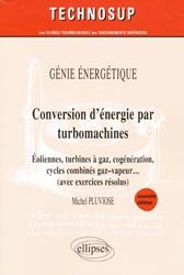 Souvent acheté avec Régulation Tome 2, le Conversion d'énergie par turbomachines