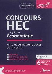Dernières parutions sur Maths pour l'économie, la gestion et la finance, Concours HEC option économique