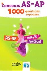Souvent acheté avec Concours AS - AP   Pack concours : 2009 - 2010, le Concours AS-AP 1000 questions réponses