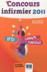 Dernières parutions dans Lamarre concours, Concours infirmier 2011