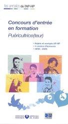 Souvent acheté avec Annales corrigées - Concours puéricultrice, le Concours d'entrée en formation  Puéricultrice(teur)