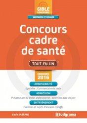 Souvent acheté avec Concours Cadre de santé 2017-2018, le Concours cadre de santé