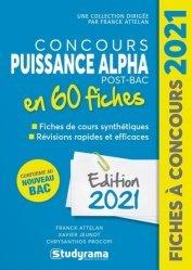 Dernières parutions dans Fiches à concours, Concours Puissance Alpha Post-Bac 60 fiches