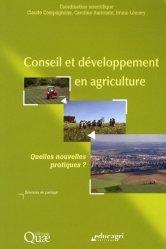 Dernières parutions dans Sciences en partage, Conseil et développement en agriculture