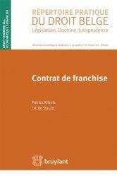 Dernières parutions dans Répertoire pratique du droit belge, Contrat de franchise