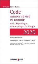 Dernières parutions sur Droit, Code en poche - Code minier révisé et annoté de la République démocratique du Congo