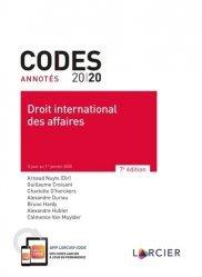 Dernières parutions sur Droit international privé, Code annoté - Droit international des affaires