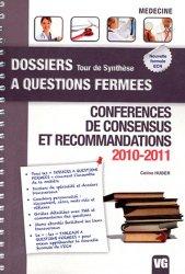 Souvent acheté avec Conférences de consensus et recommandations 2009-2010, le Conférences de consensus et recommandations 2010 - 2011