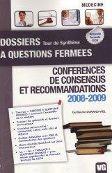 Souvent acheté avec Conférences de consensus et recommandations 2010 - 2011, le Conférences de consensus et recommandations 2008-2009