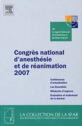 Dernières parutions dans SFAR, Congrès national d'anesthésie et de réanimation 2007