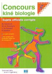 Souvent acheté avec La chimie aux concours paramédicaux, le Concours kiné biologie