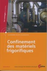 Dernières parutions dans Les ouvrages du CETIM, Confinement des matériels frigorifiques
