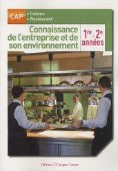 Souvent acheté avec Science des aliments 1 Stabilisation biologique et physico-chimique, le Connaissance de l'entreprise et de son environnement 1re et 2e années - CAP cuisine et restaurant - Pochette élève