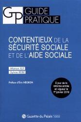Dernières parutions sur Sécurité sociale, Contentieux de la sécurité sociale et de l'aide sociale