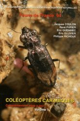 Dernières parutions dans Faune de France, Coléoptères Carabiques