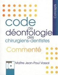 Dernières parutions dans Concepts, Code de déontologie des chirurgiens-dentistes