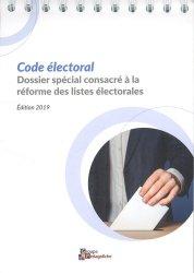 Dernières parutions sur Droit électoral, Code électoral. Edition 2019