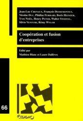 Dernières parutions dans Cedidac, Coopération et fusion d'entreprises