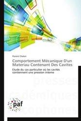 Dernières parutions sur Matières, Comportement Mécanique D'un Materiau Contenant Des Cavites Comportement Mécanique D'un Materiau Contenant Des Cavites
