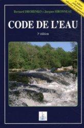 Nouvelle édition Code de l'eau