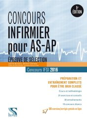 Souvent acheté avec Concours IFSI 2016 - Epreuve passerelle AS/AP, le Concours d'entrée IFSI - Épreuve de sélection AS/AP  2016