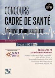 Souvent acheté avec L'hôpital, le Concours cadre de santé 2016  Epreuves d'admissibilité