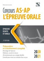 Dernières parutions sur Concours d'entrée AS - AP, Concours AS-AP 2020-2021