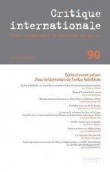 Dernières parutions sur Sciences politiques, Critique internationale N° 90