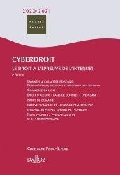 Dernières parutions sur Presse et audiovisuel, Cyberdroit. Le droit à l'épreuve de l'internet, Edition 2020-2021
