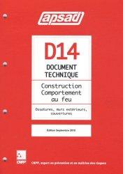 Dernières parutions dans Référentiel APSAD, D14 - Construction - Comportement au feu
