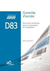 Dernières parutions dans Référentiel APSAD, D83 - Contrôle d'accès