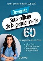 Dernières parutions sur Concours administratifs, Devenez sous-officier de la gendarmerie en 60 jours