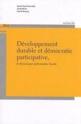 Dernières parutions dans Recherches, Développement durable et démocratie participative