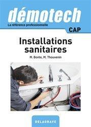 Dernières parutions sur Eau - Plomberie - Sanitaires, Démotech installations sanitaires CAP (2017)