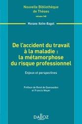 Dernières parutions dans Nouvelle bibliothèque des thèses , De l'accident du travail à la maladie : la métamorphose du risque professionnel