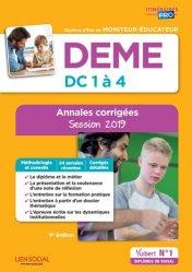 Dernières parutions dans Itinéraires pro, DEME - Épreuves de certification DC 1 à 4 - Annales corrigées 2019