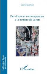 Dernières parutions dans Eidos, Des discours contemporains à la lumière de Lacan