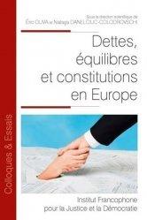 Dernières parutions dans Colloques & Essais, Dettes, équilibres et constitutions en Europe